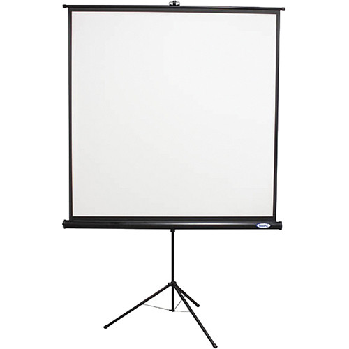 "HamiltonBuhl Value Line Tripod Projection Screen (70 x 70"", Black Housing)"