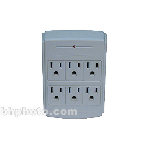 HamiltonBuhl 6-Outlet Wall Outlet #WT6