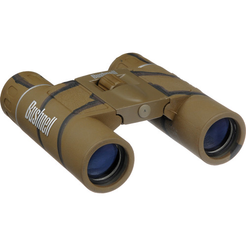 Bushnell 12x25 Powerview Roof Binocular (Camouflage, Clamshell Packaging)
