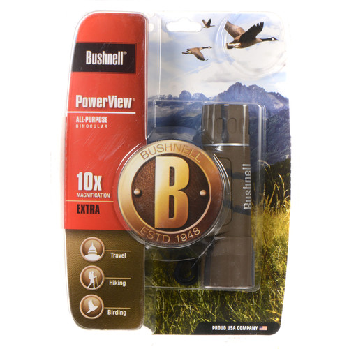 Bushnell 10x25 Powerview Binocular (Camouflage, Clamshell Packaging)