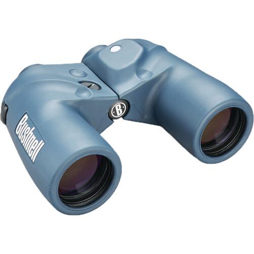 Bushnell 7x50 Marine Binoculars with Compass (Blue)
