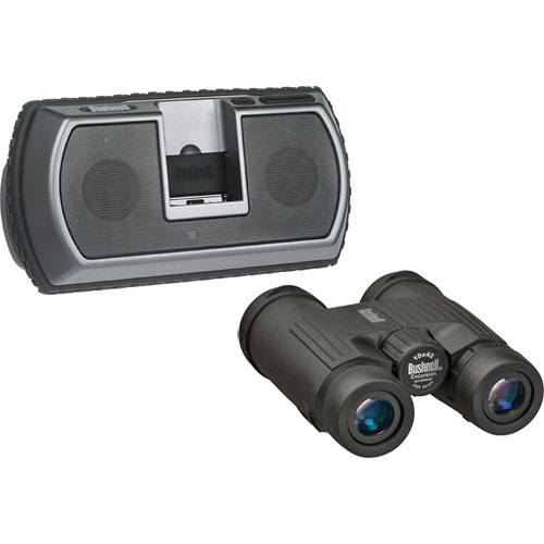 Bushnell 10x42 Excursion Binocular & Travel Tunes for iPod/MP3 Player