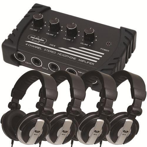 CAD HP110 4-User Headphone Listening Bundle
