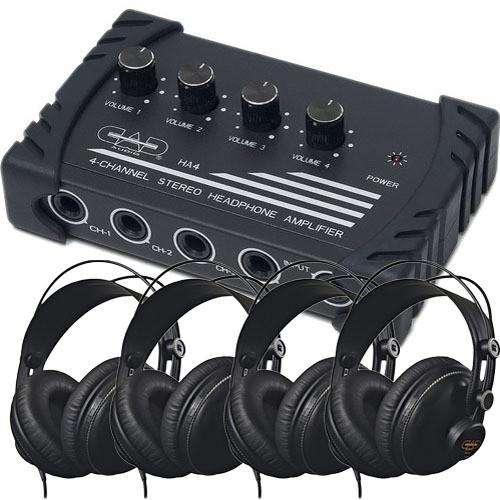 CAD HP310 4-User Headphone Listening Bundle