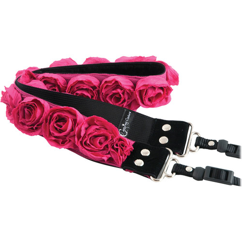 """Capturing Couture Organza Collection"""" Hot Pink 1.5"""" SLR/DSLR Couture Camera Strap"""