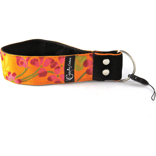 "Capturing Couture Tropical Collection: 1.5"" Wristlet Camera Strap (Hibiscus Sun)"