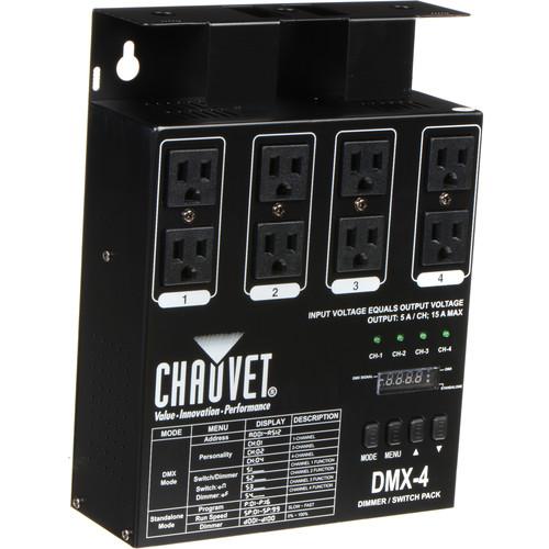 CHAUVET DJ DMX-4LED 4-Channel Dimmer Pack