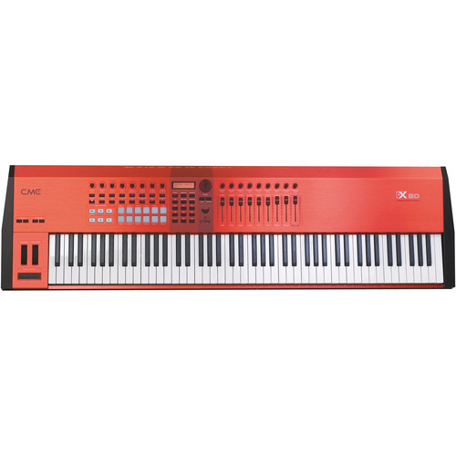 cme vx70 keyboard controller with motorized faders and usb vx70. Black Bedroom Furniture Sets. Home Design Ideas