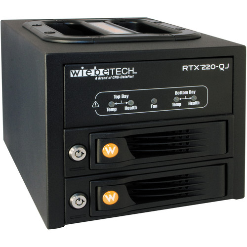 CRU-DataPort RTX220-QJ 2 TrayFree SATA Hard Disc Drive Bays