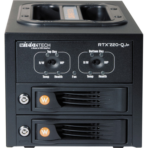 CRU-DataPort RTX220-QJP 2 TrayFree SATA Hard Disc Drive Bays