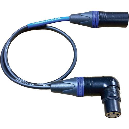 "Cable Techniques CT-PXR-18B Lectrosonics UCR Receiver Bag Cable - XLR-3F RA to XLR-3M (18"", Blue XLR Ring)"