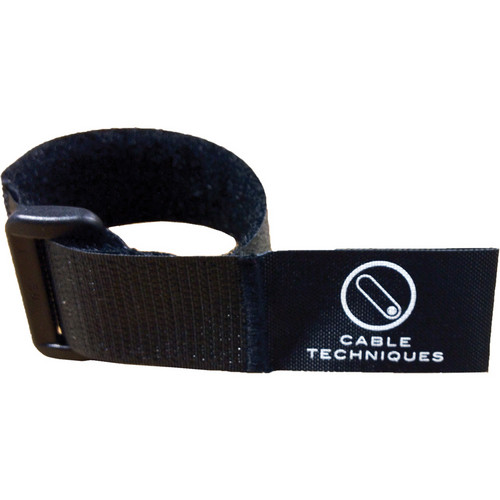 "Cable Techniques 8"" Touch-Fastener Cable Wrap (Black)"