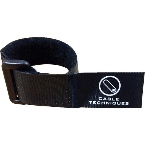 "Cable Techniques 8"" Touch-Fastener Cable Wrap (Black)"