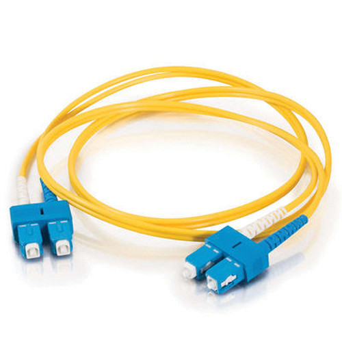 C2G SC to SC Duplex 9/125 Single Mode Fiber Patch Cable (5m, Yellow)