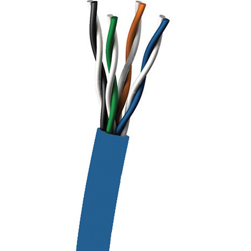 C2G 1000' Cat6 UTP 350MHz Solid PVC Ethernet Cable (Blue)