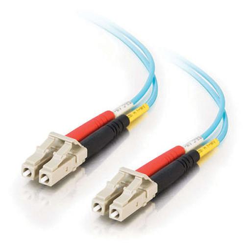 C2G 5m 10 Gb LC/LC Duplex 50/125 LOMM Fiber Patch Cable (Aqua)