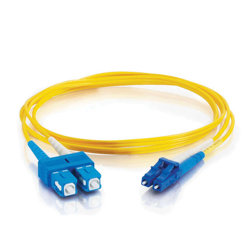 C2G 100' (30m) LC/SC Plenum-Rated Duplex 9/125 Single-Mode Fiber Patch Cable (Yellow)
