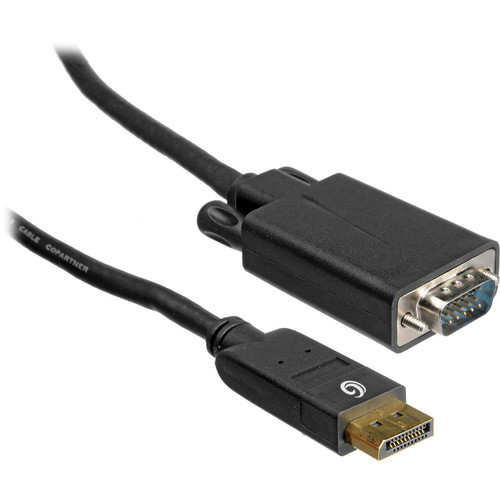 C2G 9.8' (3 m) DisplayPort 1.1 Male to HD15 VGA Male Cable