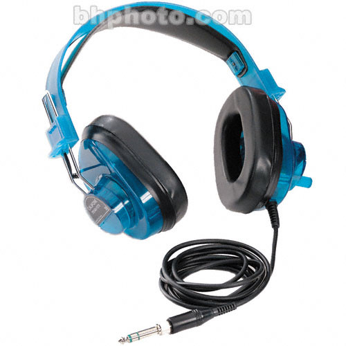 Califone 2924AVPS-BL - Circumaural Closed-Back Stereo Headphones - Translucent Blueberry