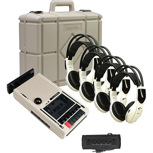 Califone 3432IR-PLC 4-Person Wireless Cassette Player/Recorder System