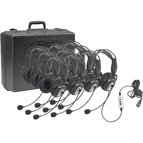 Califone 4100-10 USB HEADSET KIT w/CARRY CASE