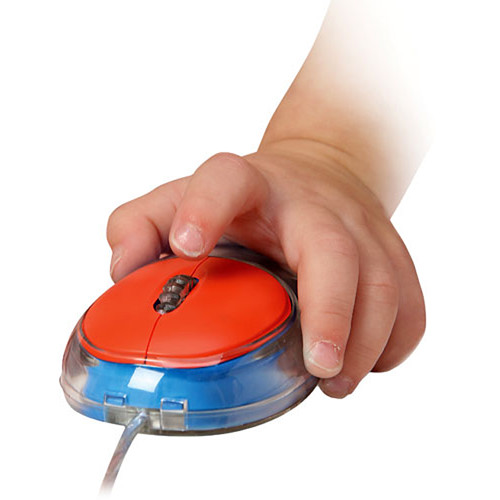 Califone Child-Sized Optical Computer Mouse - USB/PS2