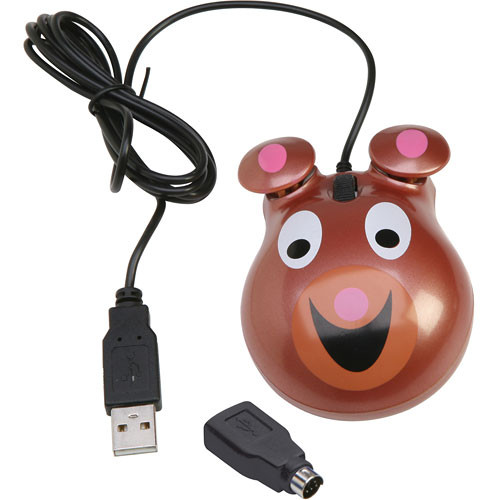 Califone KM-BE Animal-Themed Computer Mouse (Bear)