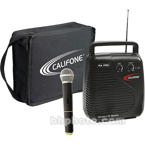 Califone PA10B1 PA-Pro Public Address with Wireless Microphone