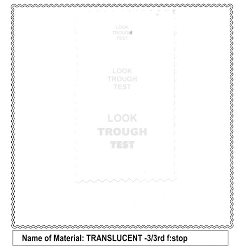 Sunbounce Translucent 3/3 Bulk Diffusion Material (500cm Width)