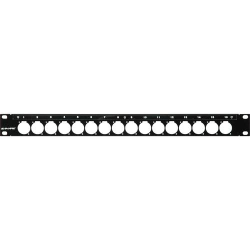 Canare 161U A/V Bulkhead Panel (Unloaded Patch / Flush Mount)