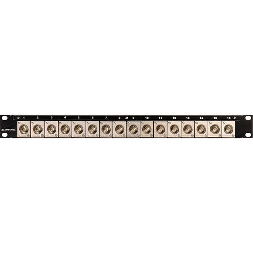 Canare 161U-BJRU AV Bulkhead Panel with (16) BNC-BNC Connectors