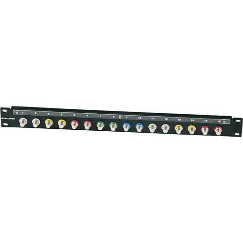 """Canare 161U-FJR A/V Bulkhead Panel (""""F"""" Patchbay / DD-mount)"""
