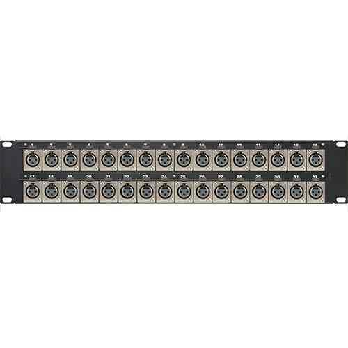 Canare 322U-X12F A/V Bulkhead Panel (16M & 16F XLR-Solder / Flush Mount)