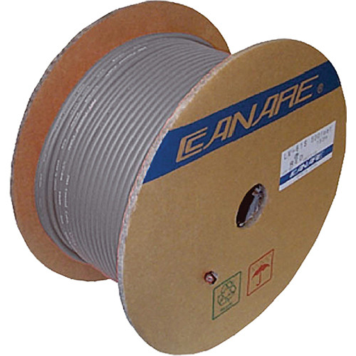Canare 4S11 4-Conductor Speaker Bulk Cable (656', Gray)