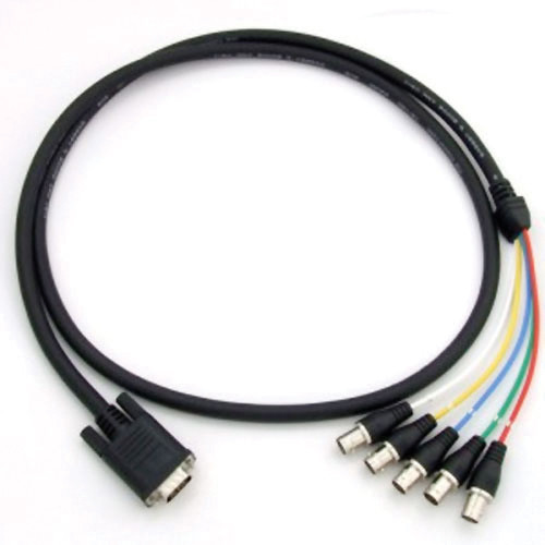 Canare 5VDS05-J1.5C DsubHD15 VGA to BCJ-RUC1-RE Cable (5 m)