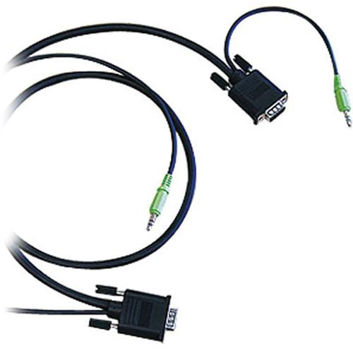 Canare A1VGA0075 Dual DsubHD15 / Mini-Stereo Plug (0.75 m)