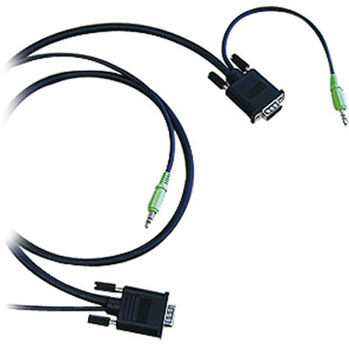 Canare A1VGA01 Dual DsubHD15 / Mini-Stereo Plug (1 m)