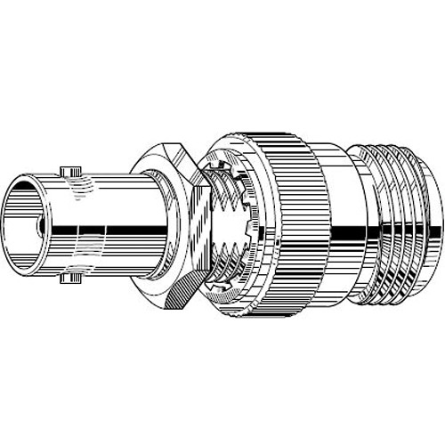 Canare NCJ-BCJR 75Ω N to BNC Adapter