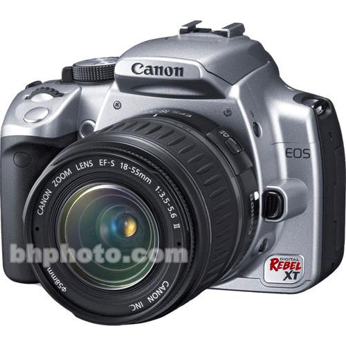 Canon EOS Digital Rebel XT (a.k.a. 350D)Digital Camera (Silver) w/ 18-55mm Lens