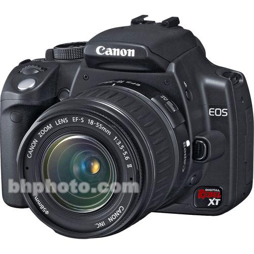 Canon EOS Digital Rebel XT Digital Camera (Black) with 18-55mm EF-S Lens
