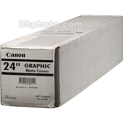 "Canon Graphic Matte Canvas (24""x40')"