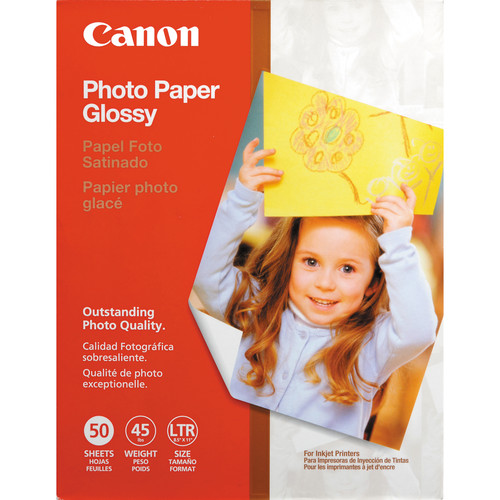 "Canon Glossy Photo Paper - 8.5x11"" - 50 Sheets"