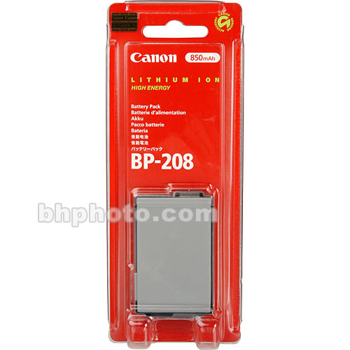 Canon BP-208 Lithium-Ion Battery (850mAh)