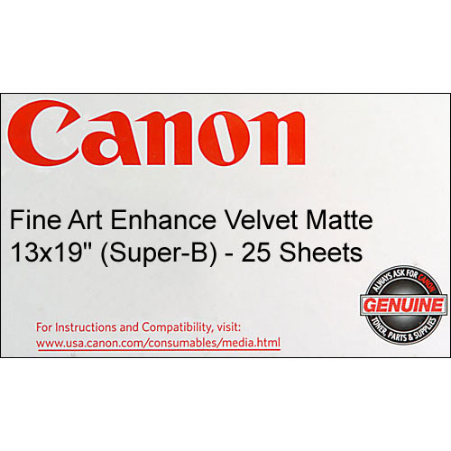 "Canon Fine Art Enhance Velvet Paper (Matte, 225gsm) - 13x19"" - 25 Sheets"