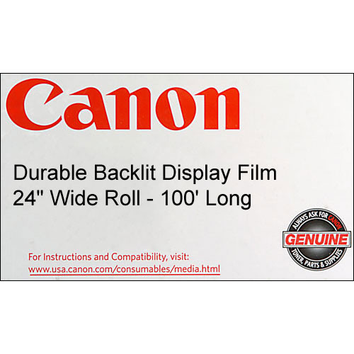 "Canon Durable Backlit Display Film (215gsm) - 24"" Wide x 100' Long"
