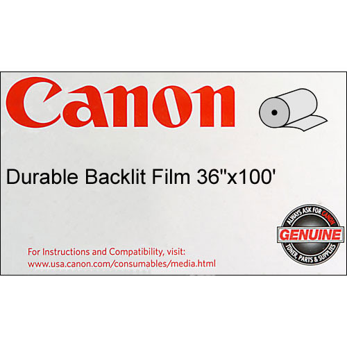 "Canon Durable Backlit Display Film (215gsm) - 36"" Wide x 100' Long"