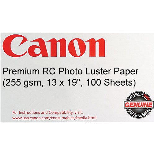 Canon Premium RC Photo Luster Paper (255 gsm, 13 x 19'', 100 Sheets)