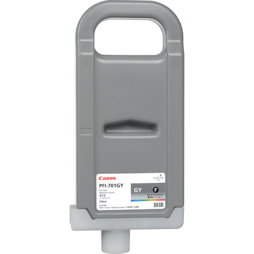 Canon LUCIA PFI-701GY Gray Ink Tank (700 ml)