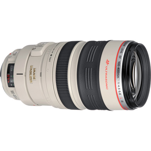 Canon 100-400mm f/4.5-5.6L IS EF USM Lens with Black LensCoat Cover, Hoodie & Cleaning Kit