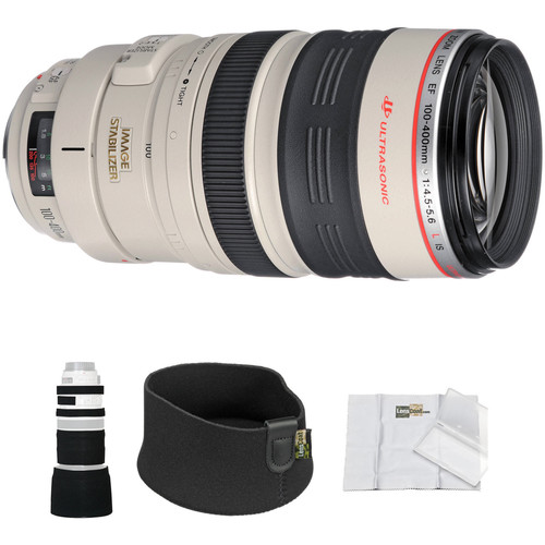 Canon EF 100-400mm f/4.5-5.6L IS USM Lens with LensCoat Cover and Hoodie Kit